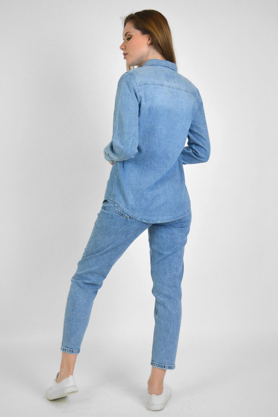 Рубашка женская Baccino 9677 джинсовая - фото 4