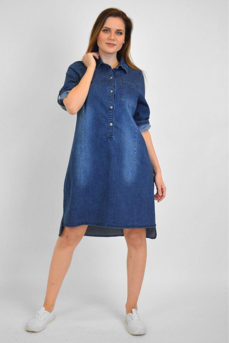 Платье женское Baccino M006 джинсовое - фото 2