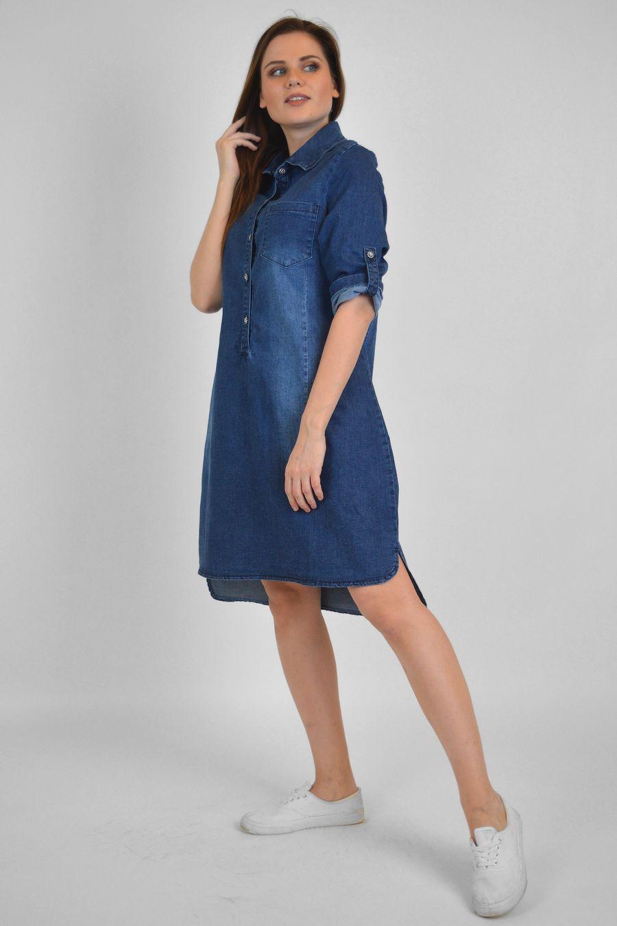 Платье женское Baccino M006 джинсовое - фото 3