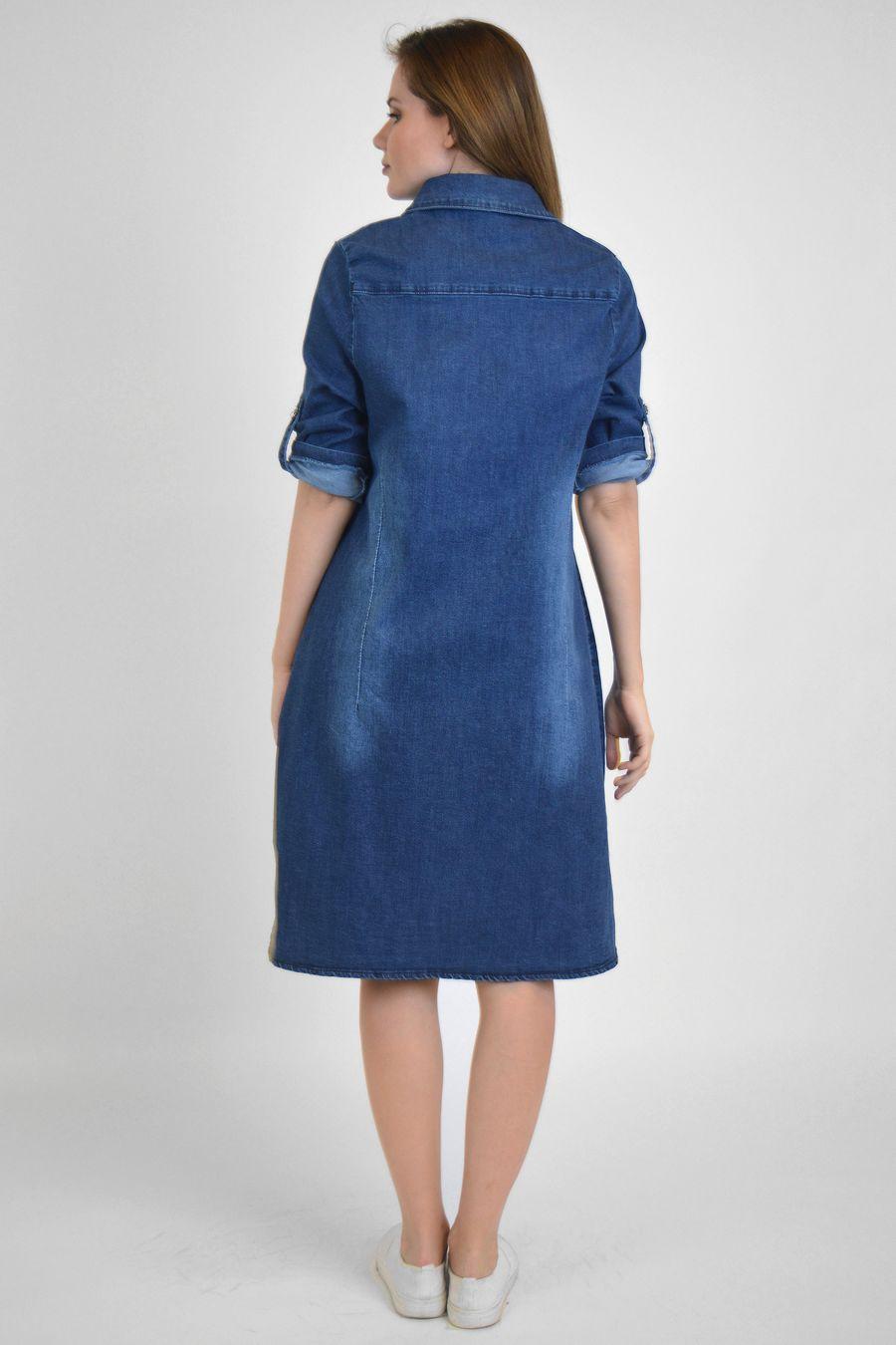 Платье женское Baccino M006 джинсовое - фото 4