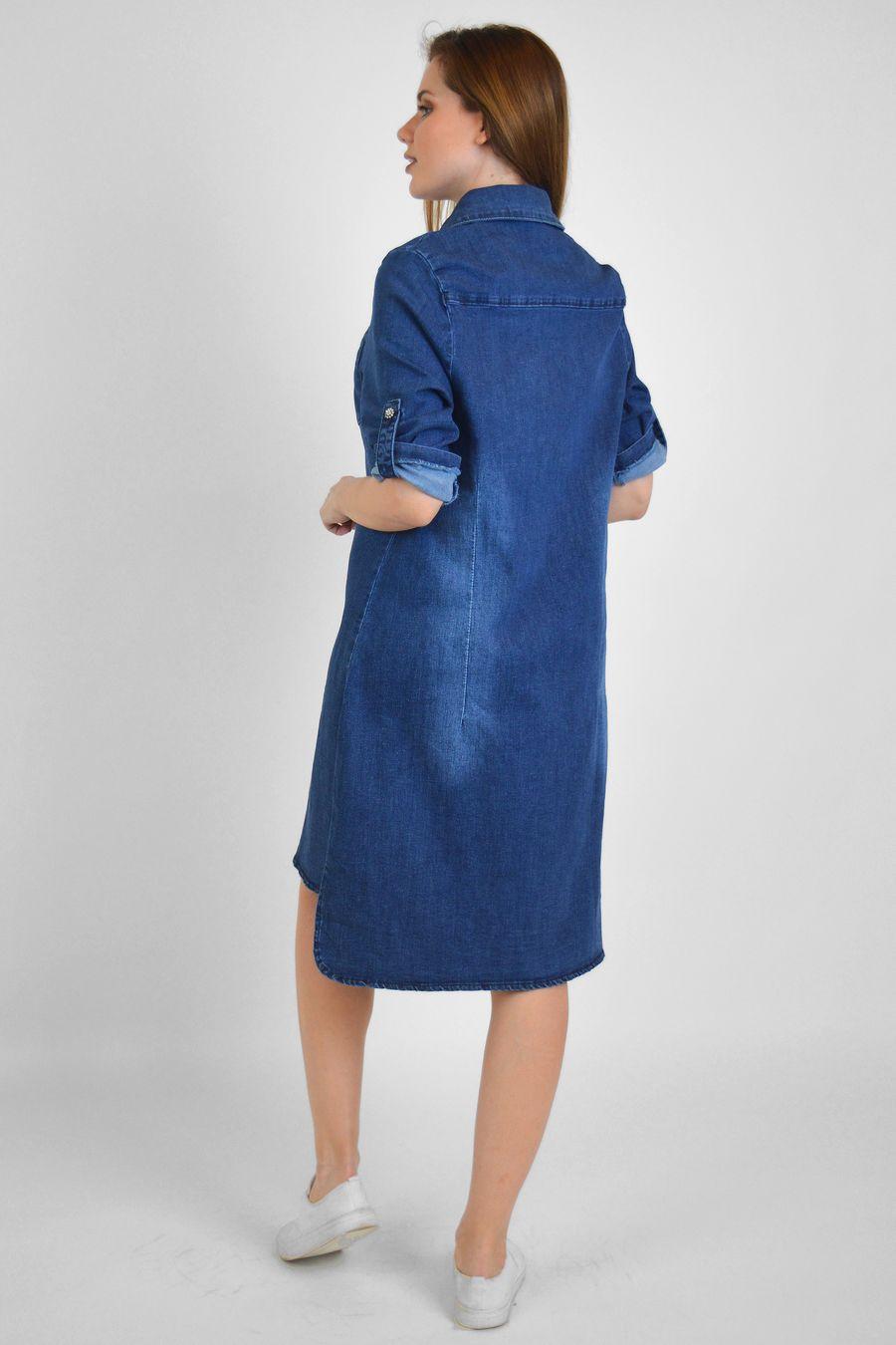 Платье женское Baccino M006 джинсовое - фото 5