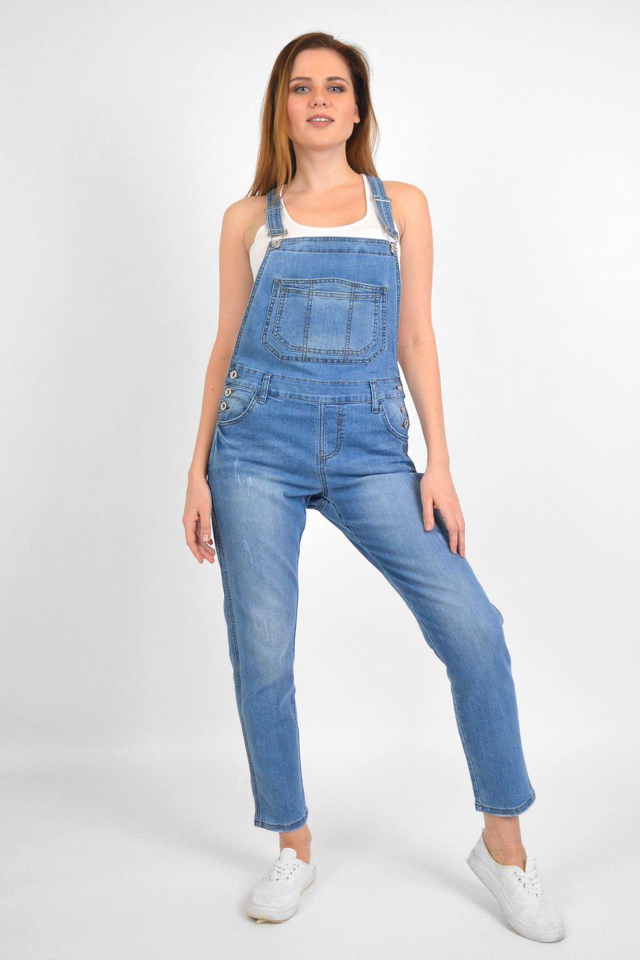 Комбинезон женский Baccino 3041 джинсовый - фото 2