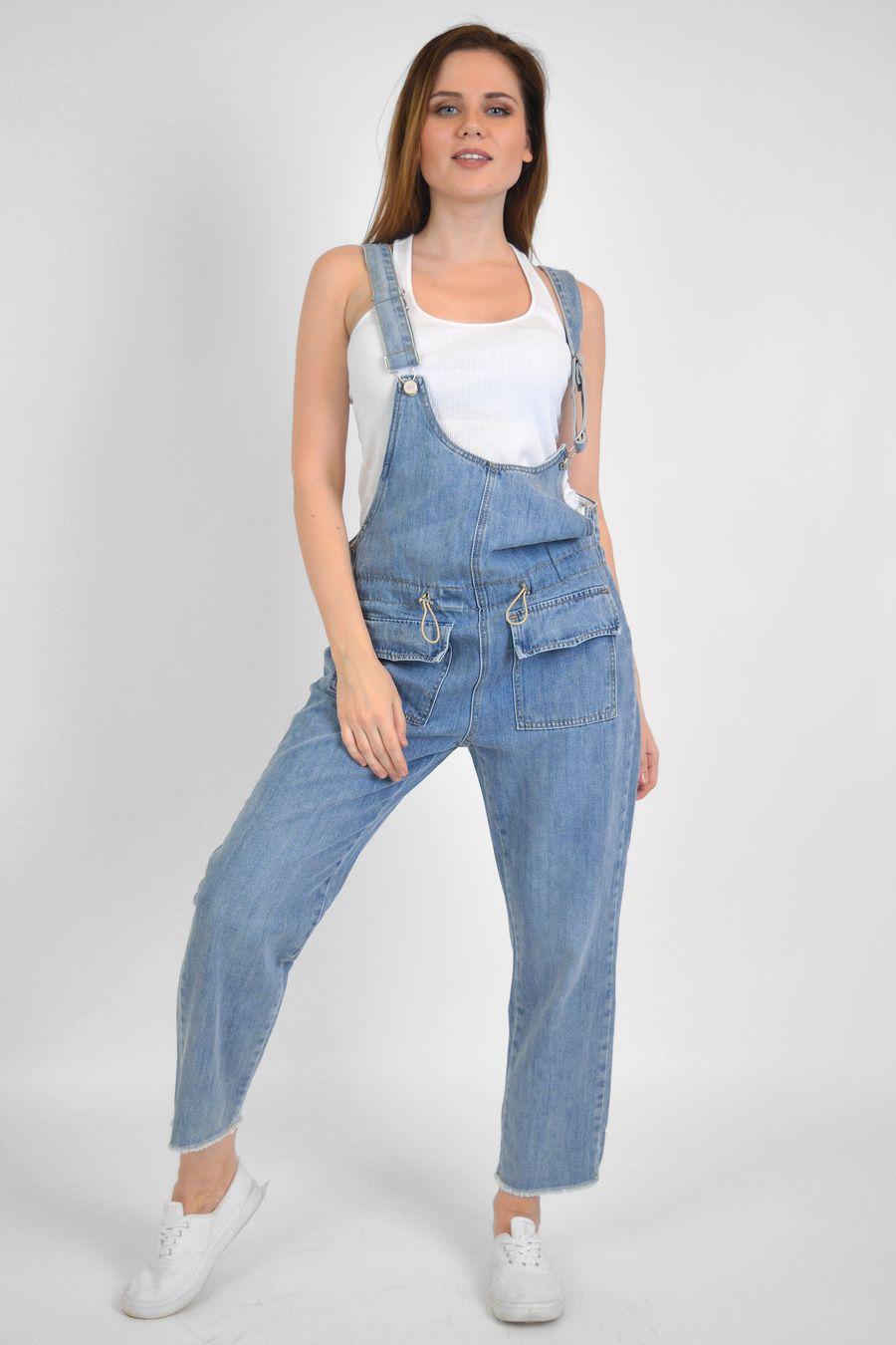 Комбинезон женский Baccino C9822 джинсовый - фото 1