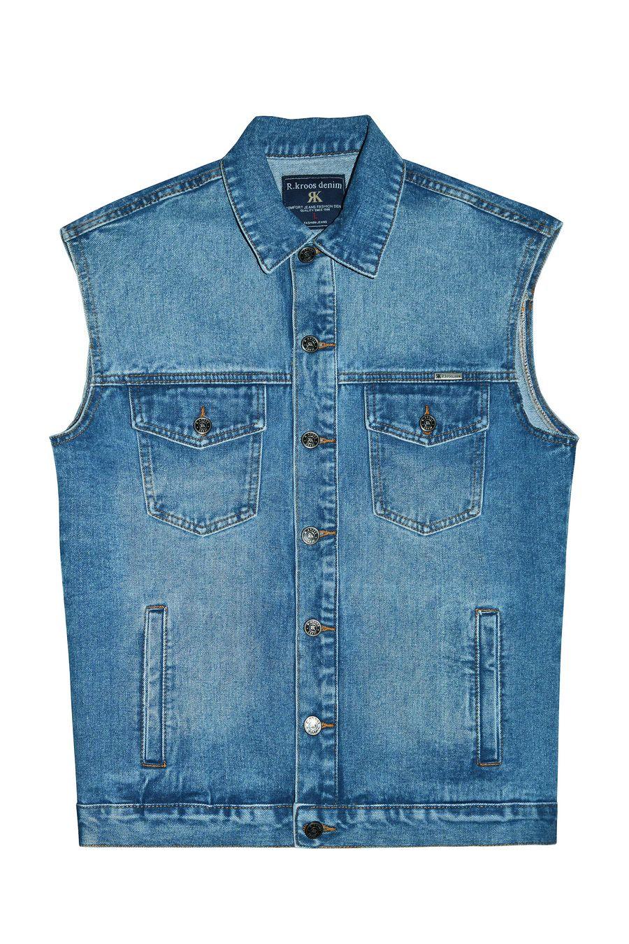 Жилет мужской (джинсовка) R.KROOS 1023 - фото 1