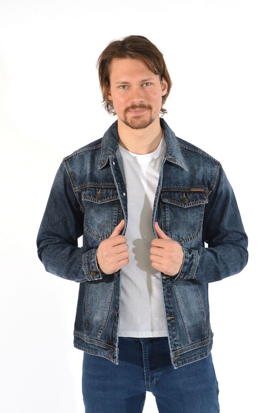 Пиджак мужской (джинсовка) Regass 87211/07 - фото 1