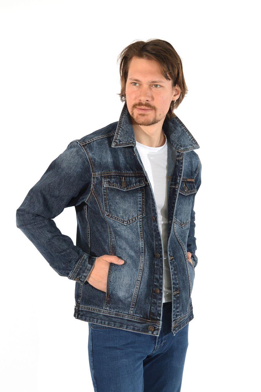 Пиджак мужской (джинсовка) Regass 87211/07 - фото 4