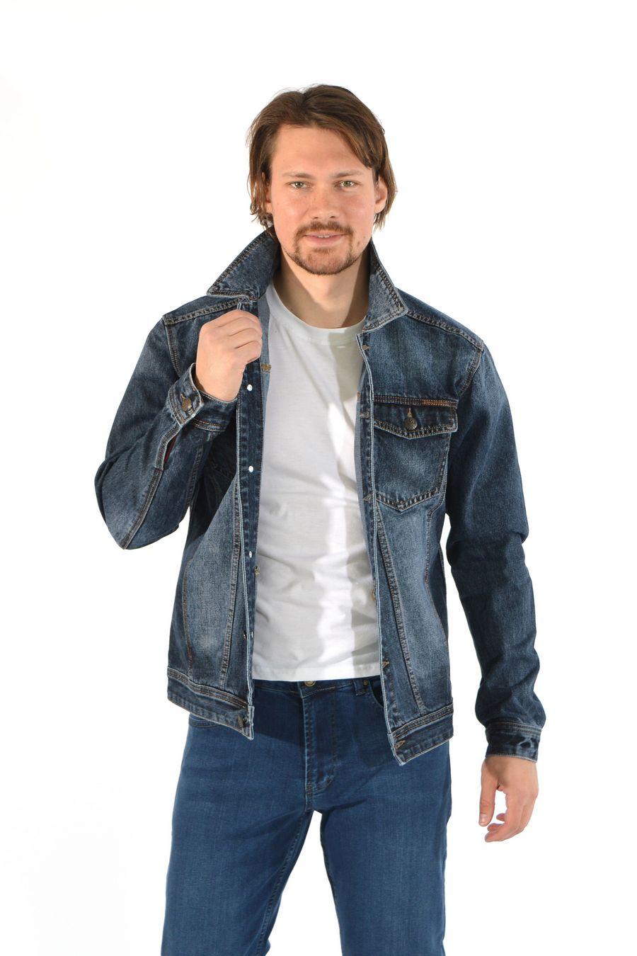 Пиджак мужской (джинсовка) Regass 87211/07 - фото 5