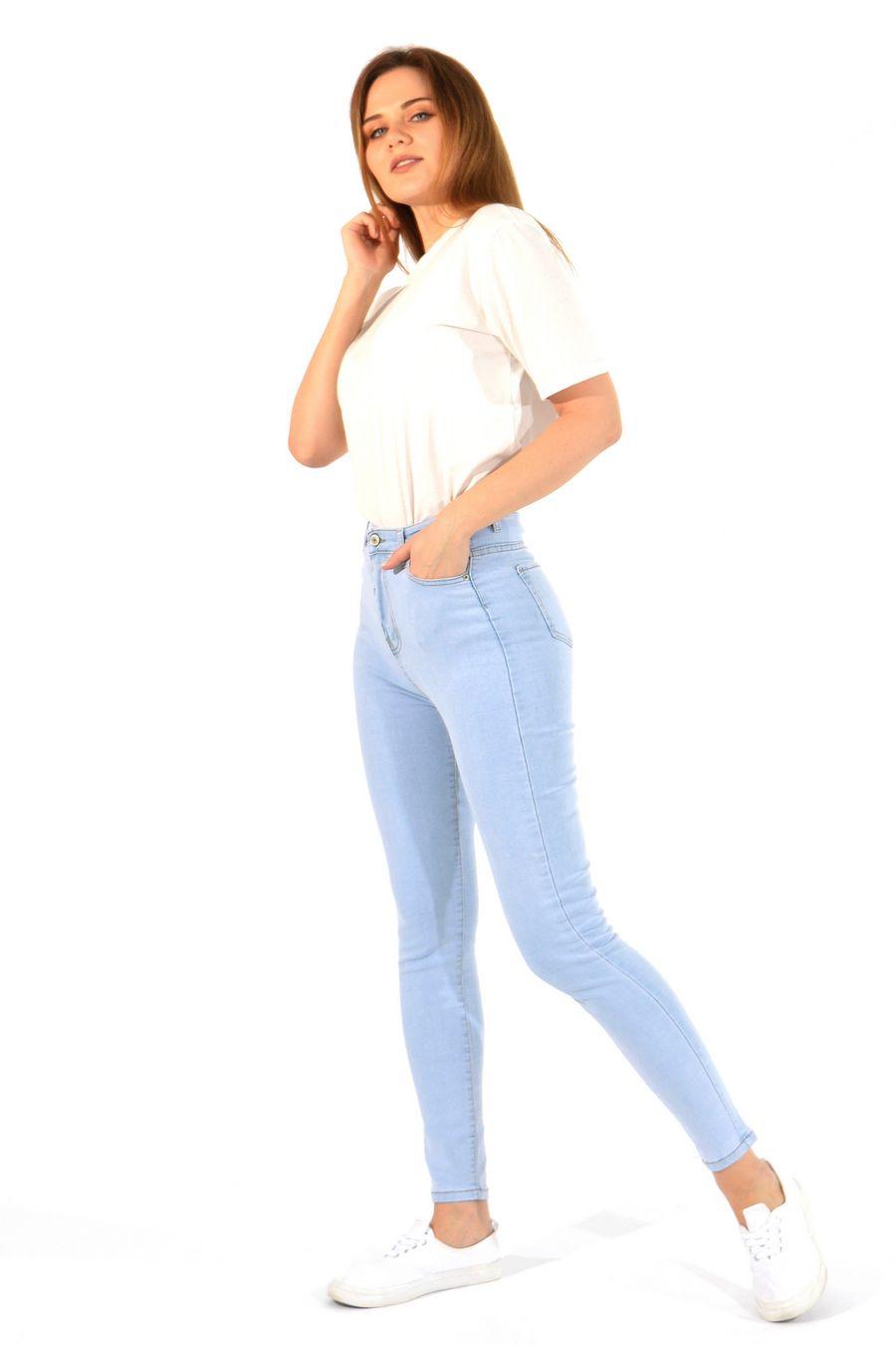 Джинсы женские Denim 836 голубые - фото 3