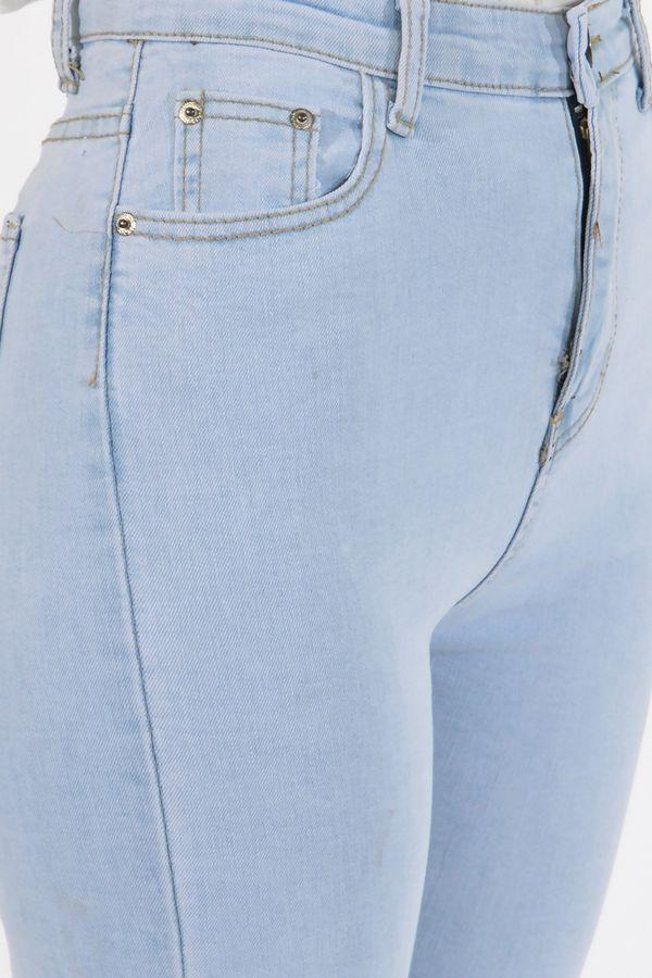 Джинсы женские Denim 836 голубые - фото 6