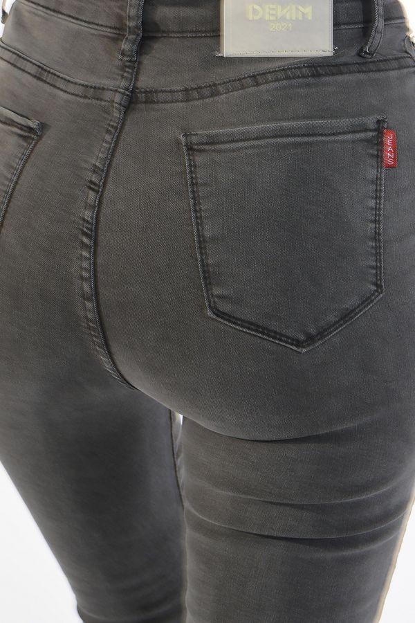 Джинсы женские Denim 02 серые - фото 6
