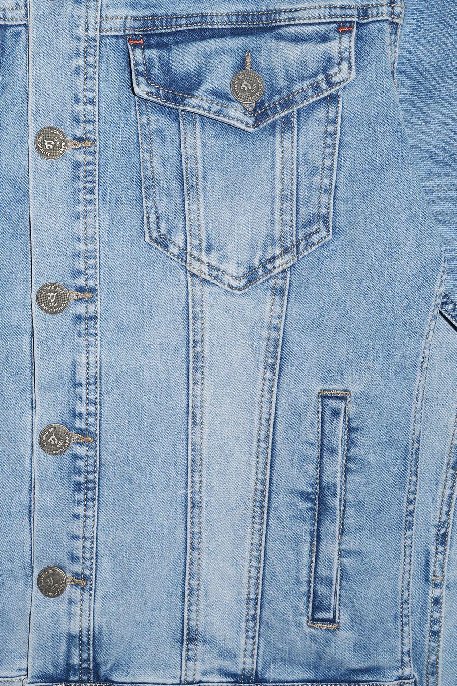 Пиджак мужской (джинсовка) Longli C021 - фото 3