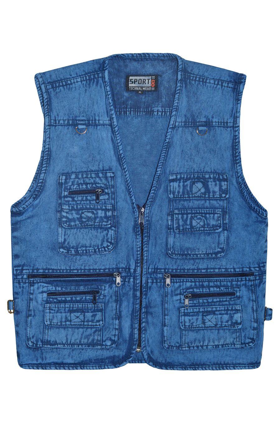 Жилет мужской Sport #10 джинсовый синий - фото 1