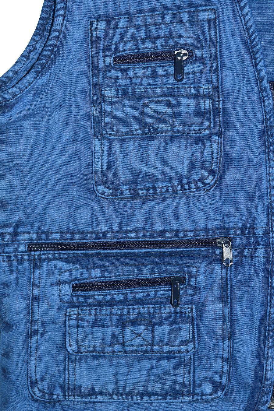 Жилет мужской Sport #10 джинсовый синий - фото 3