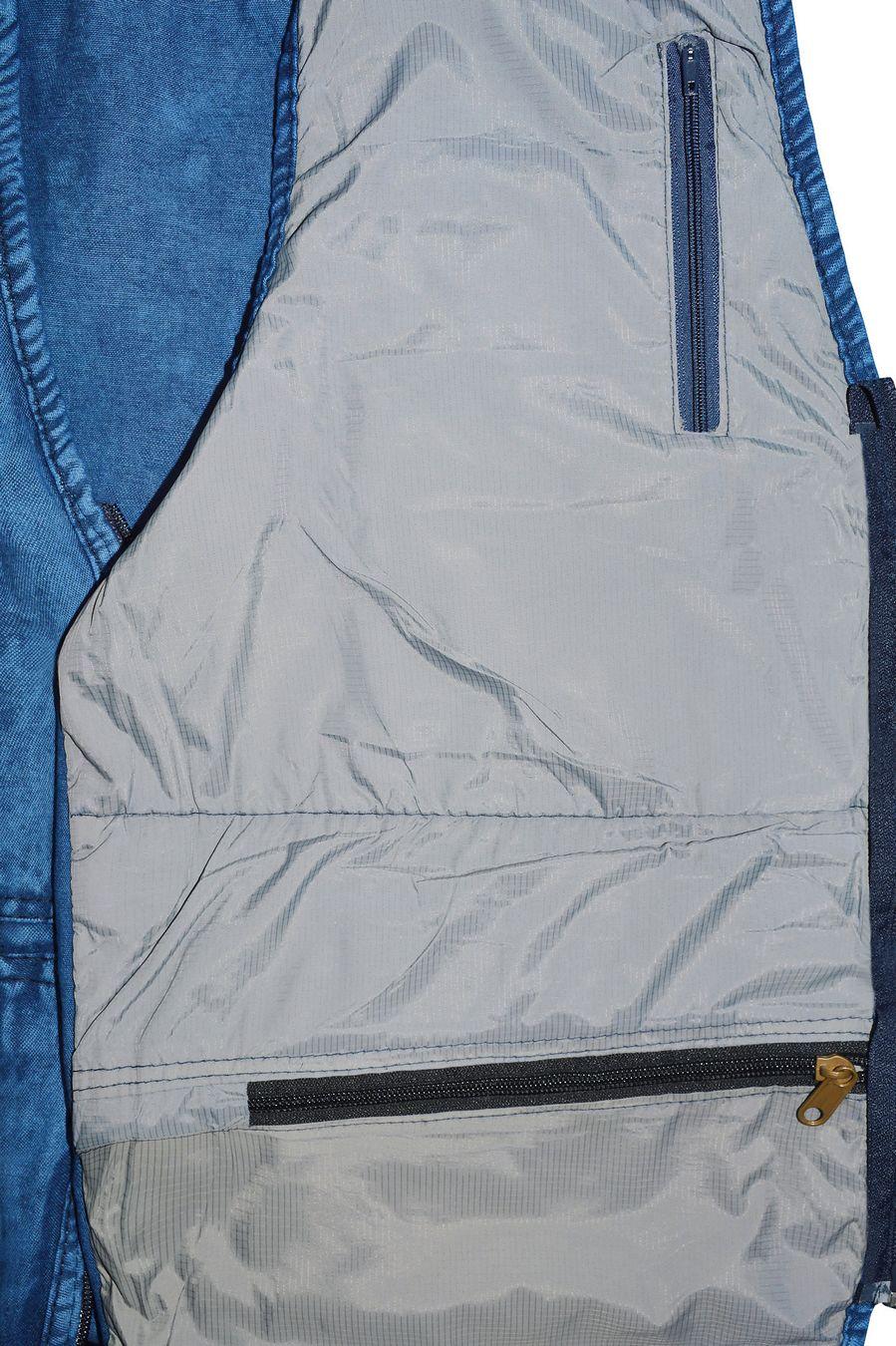 Жилет мужской Sport #10 джинсовый синий - фото 4