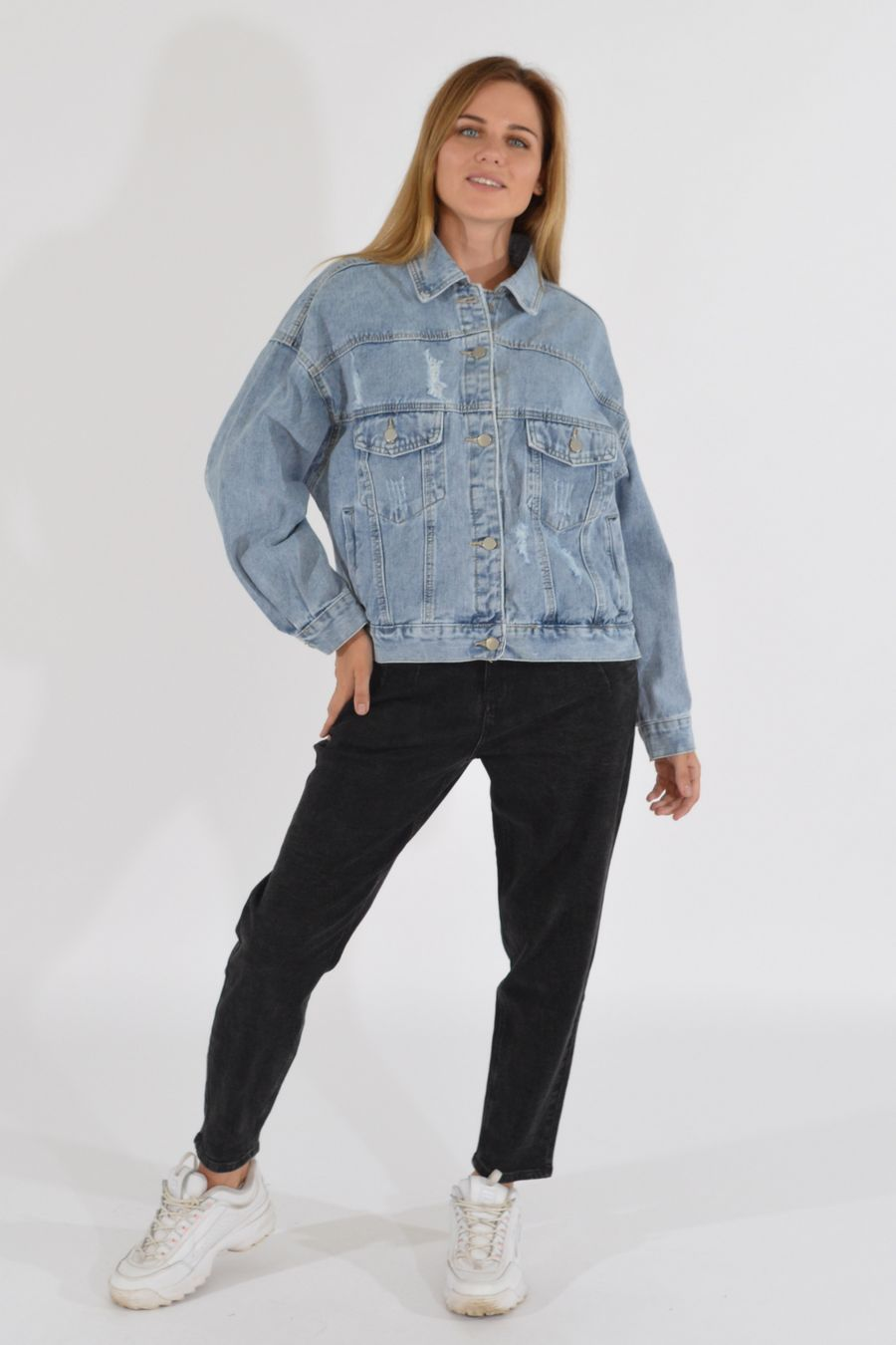 Жакет женский (джинсовка) LRZBS 2189 - фото 2