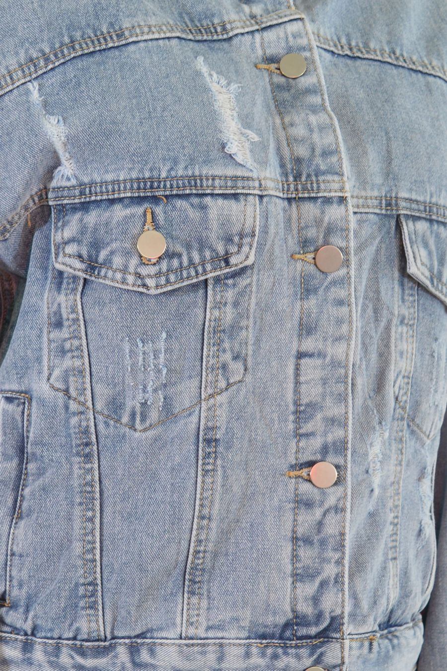 Жакет женский (джинсовка) LRZBS 2189 - фото 5