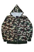 Утепленная мужская куртка NJ 338 камуфляж