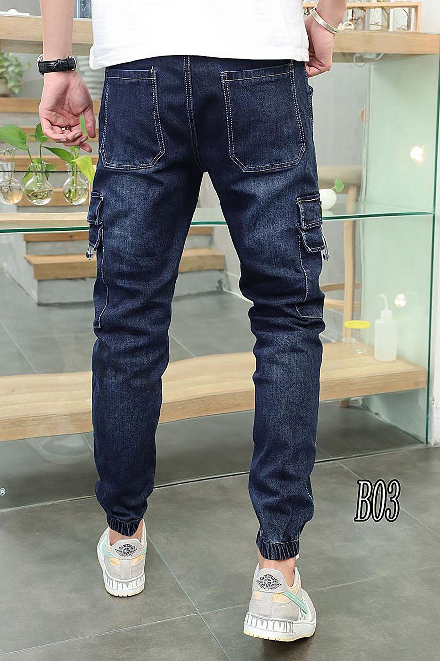 Джинсы мужские Roberto B03 утепленные - фото 4