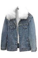 Утепленная женская джинсовая куртка LRZBS 2173