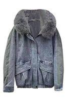 Утепленная женская джинсовая куртка LRZBS 2181