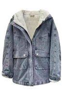 Утепленная женская джинсовая куртка LRZBS 2182