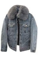 Утепленная женская джинсовая куртка LRZBS 2188